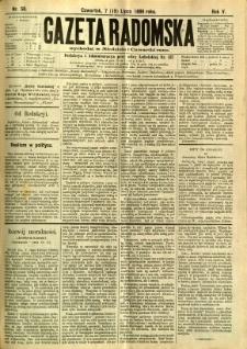 Gazeta Radomska, 1888, R. 5, nr 58