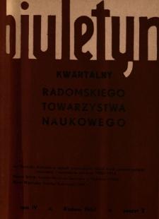 Biuletyn Kwartalny Radomskiego Towarzystwa Naukowego, 1967, T. 4, z. 2
