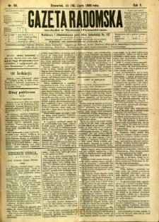 Gazeta Radomska, 1888, R. 5, nr 60