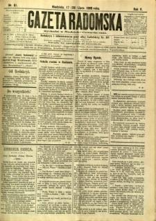 Gazeta Radomska, 1888, R. 5, nr 61