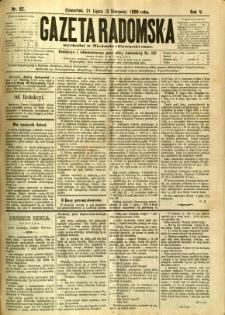 Gazeta Radomska, 1888, R. 5, nr 62