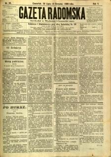 Gazeta Radomska, 1888, R. 5, nr 64