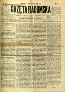 Gazeta Radomska, 1888, R. 5, nr 67
