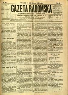 Gazeta Radomska, 1888, R. 5, nr 68