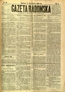 Gazeta Radomska, 1888, R. 5, nr 69