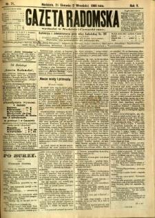 Gazeta Radomska, 1888, R. 5, nr 71