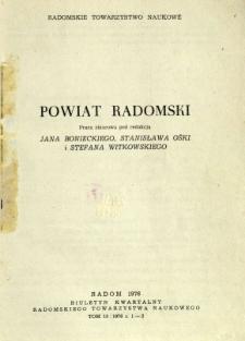 Biuletyn Kwartalny Radomskiego Towarzystwa Naukowego, 1976, T. 13, z. 1-2