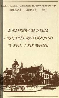 Biuletyn Kwartalny Radomskiego Towarzystwa Naukowego 1997, T. 32, z. 1-2