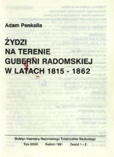 Biuletyn Kwartalny Radomskiego Towarzystwa Naukowego, 1991, T. 28, z. 1-2