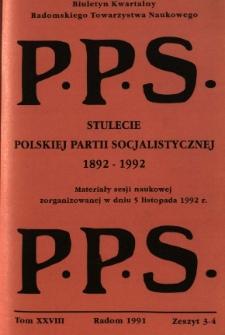 Biuletyn Kwartalny Radomskiego Towarzystwa Naukowego, 1991, T. 28, z. 3-4
