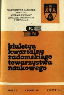 Biuletyn Kwartalny Radomskiego Towarzystwa Naukowego, 1983, T. 20, z. 3-4