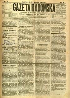 Gazeta Radomska, 1888, R. 5, nr 78