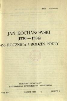Biuletyn Kwartalny Radomskiego Towarzystwa Naukowego, 1979, T. 16, z. 4