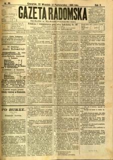 Gazeta Radomska, 1888, R. 5, nr 80