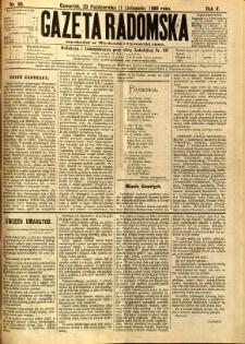 Gazeta Radomska, 1888, R. 5, nr 88