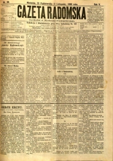 Gazeta Radomska, 1888, R. 5, nr 89