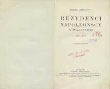 Rezydenci napoleońscy w Warszawie 1807-1813