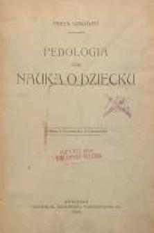 Pedologia czyli nauka o dziecku