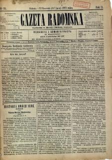 Gazeta Radomska, 1885, R. 2, nr 53