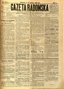 Gazeta Radomska, 1888, R. 5, nr 101