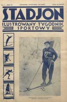 Stadjon : Ilustrowany Tygodnik Sportowy, 1929, R. 7, nr 2