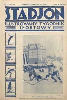 Stadjon : Ilustrowany Tygodnik Sportowy, 1929, R. 7, nr 3