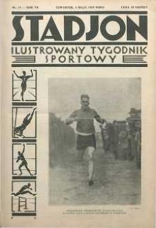 Stadjon : Ilustrowany Tygodnik Sportowy, 1929, R. 7, nr 18