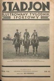 Stadjon : Ilustrowany Tygodnik Sportowy, 1929, R. 7, nr 42