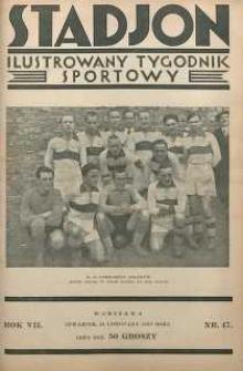 Stadjon : Ilustrowany Tygodnik Sportowy, 1929, R. 7, nr 47