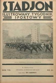 Stadjon : Ilustrowany Tygodnik Sportowy, 1929, R. 7, nr 48
