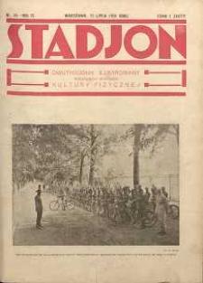 Stadjon : Ilustrowany Tygodnik Sportowy, 1931, R. 9, nr 25