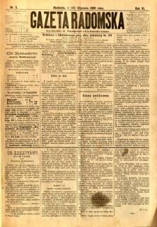 Gazeta Radomska, 1889, R. 6, nr 5