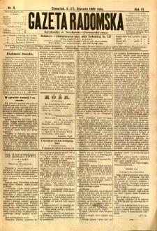 Gazeta Radomska, 1889, R. 6, nr 6
