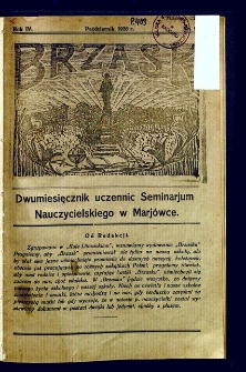 Brzask : Dwumiesięcznik uczennic Seminarium Nauczycielskiego w Mariówce, 1926, R. 4, nr 9