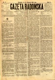 Gazeta Radomska, 1889, R. 6, nr 9