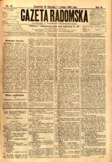 Gazeta Radomska, 1889, R. 6, nr 12