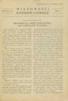 Wiadomości Konserwatorskie, 1929, nr 10/11/12