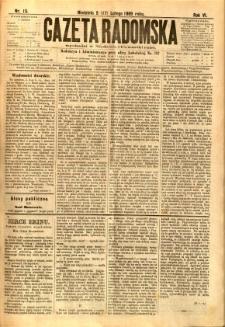 Gazeta Radomska, 1889, R. 6, nr 15