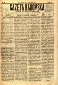 Gazeta Radomska, 1889, R. 6, nr 16