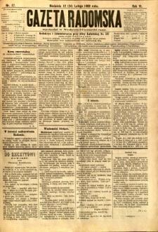 Gazeta Radomska, 1889, R. 6, nr 17