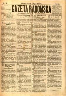 Gazeta Radomska, 1889, R. 6, nr 18