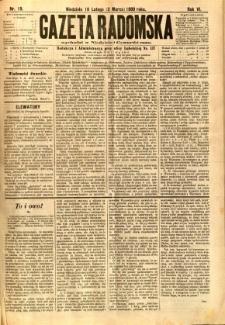 Gazeta Radomska, 1889, R. 6, nr 19