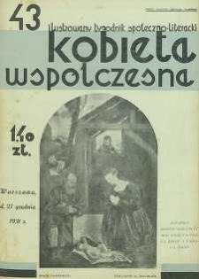 Kobieta współczesna : Ilustrowany tygodnik społeczno-literacki, 1931, R. 5, nr 43