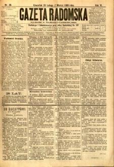 Gazeta Radomska, 1889, R. 6, nr 20