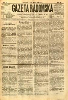 Gazeta Radomska, 1889, R. 6, nr 22