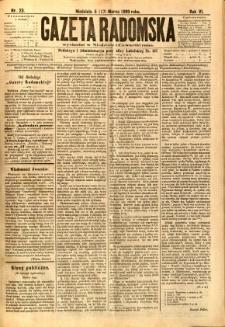 Gazeta Radomska, 1889, R. 6, nr 23