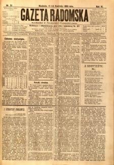 Gazeta Radomska, 1889, R. 6, nr 31
