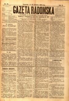 Gazeta Radomska, 1889, R. 6, nr 34
