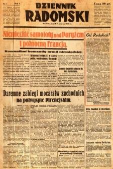 Dziennik Radomski, 1940, R. 1, nr 1