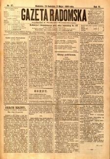 Gazeta Radomska, 1889, R. 6, nr 37